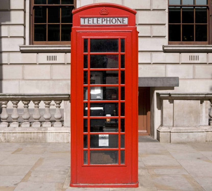 Cabinas de teléfono en Inglaterra