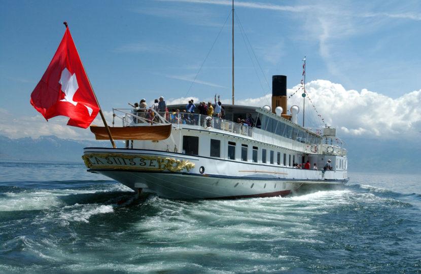 Paseos en barco por el Lago Ginebra en Suiza