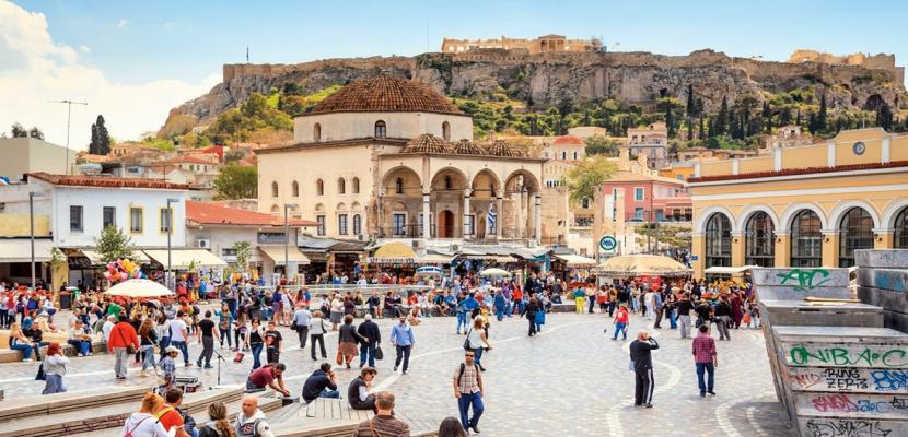 Turistas Atenas