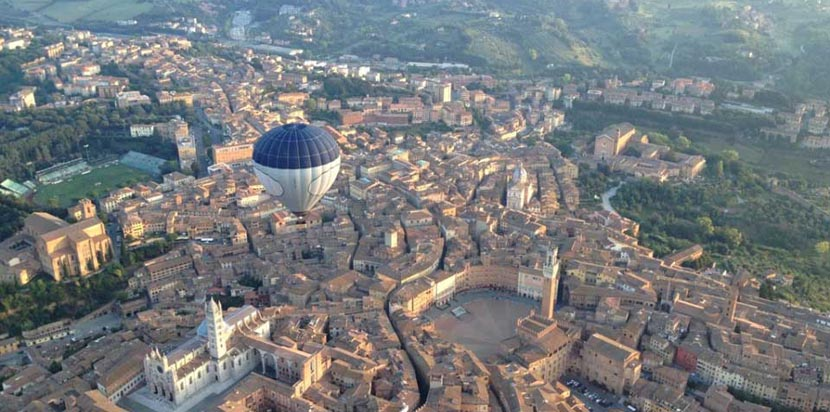 Vuelo en globo sobre Siena