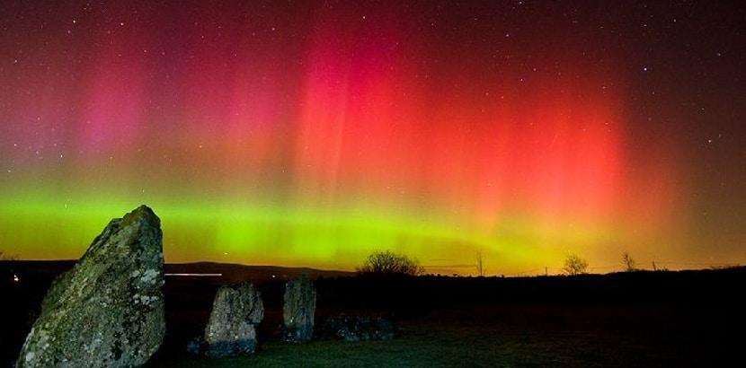 Aurora boreal en Irlanda