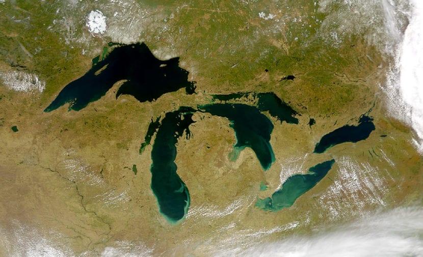 Grandes lagos en Estados Unidos