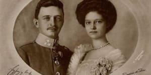 Carlos I de Austria y su esposa