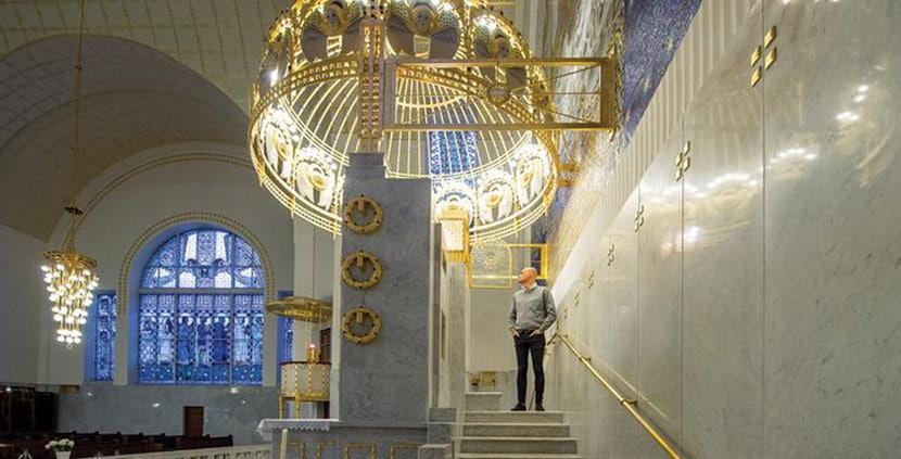 Iglesia diseñada por Otto Wagner en Viena