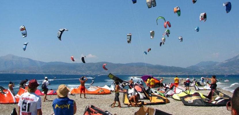 Festival de kitesurf en Grecia