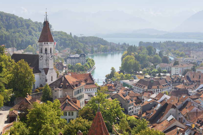 Thun and surroundings in september