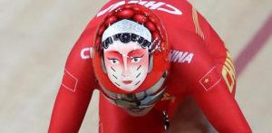 Cascos chinos de las Olímpiadas