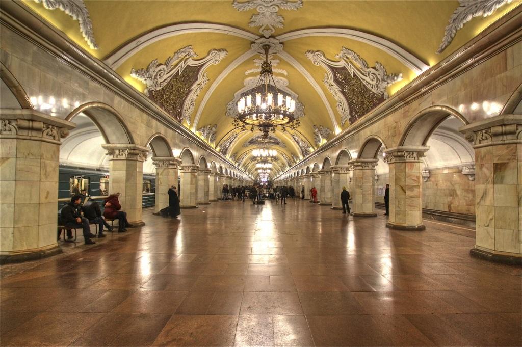 Estaciones de récord en el metro de Moscú