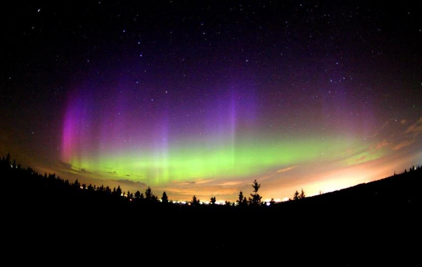 ver auroras boreales desde Saskatchewan