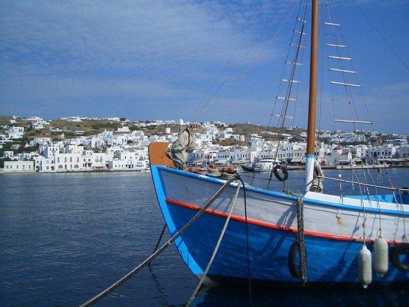 Mikonos y los cruceros pro las islas