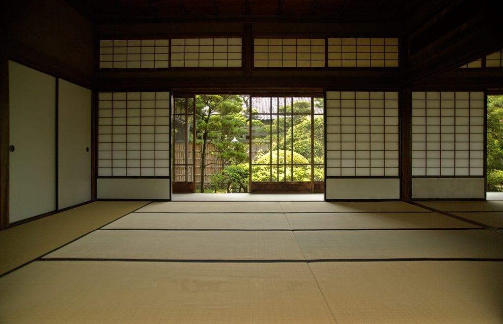 Tatamis en viviendo japonesa