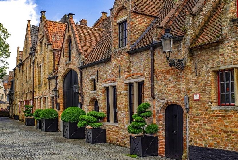 Casas medievales ciudad de Brujas