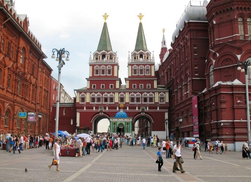 Puerta Plaza Roja de Rusia