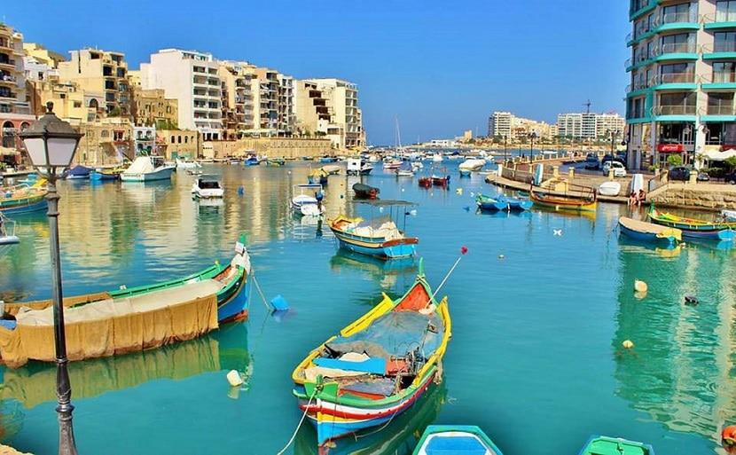 Pueblo pesquero en Malta