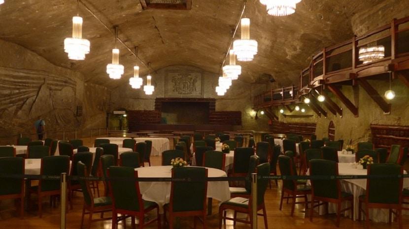 Restaurante subterráneo minas de sal