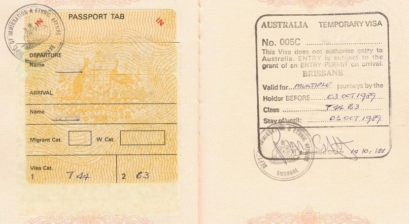 Los visados para Australia