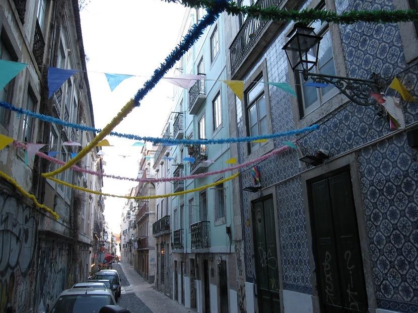 Barrio clásico en Lisboa
