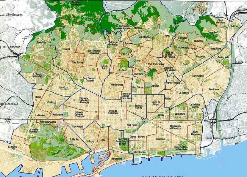 Mapa Codigos Postales Barcelona.Mapa De Bcn Mapa