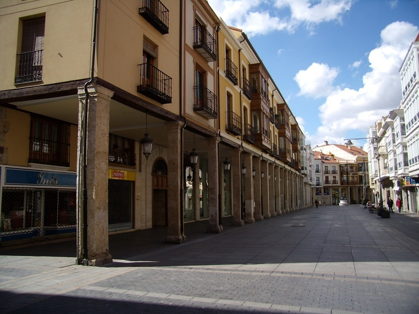 Calle Mayor en Palencia