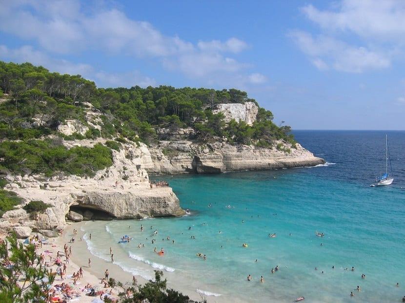 Cala Mitjana en Menorca
