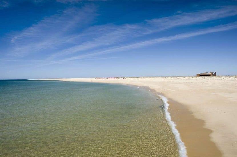 Isla desierta playa Portugal