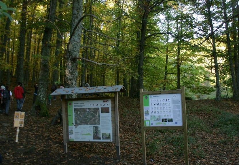 Indicaciones y rutas del Castañar del Tiemblo