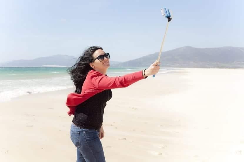 Palo selfie móvil
