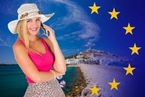 Roaming gratis en países de la Unión Europea