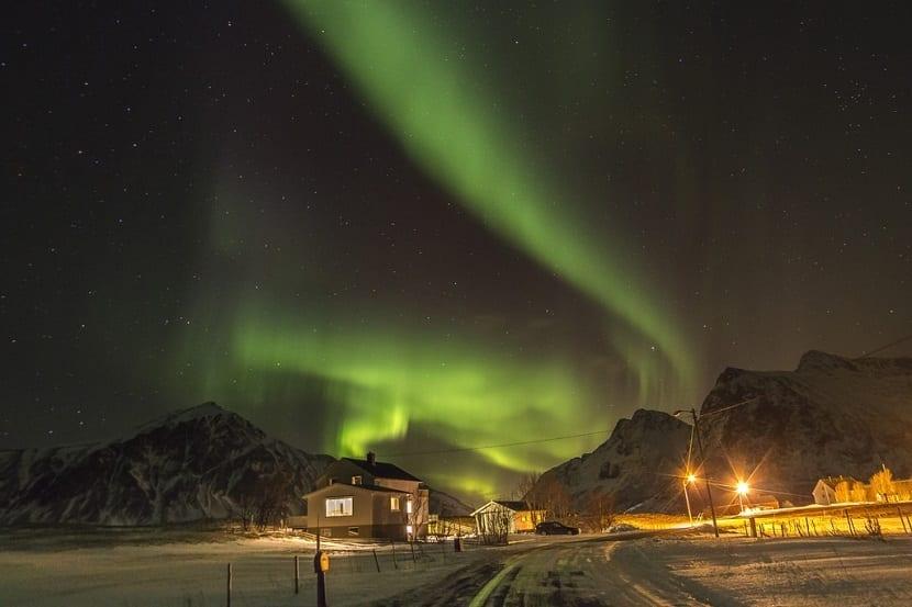 Auroras boreales Islas Lofoten