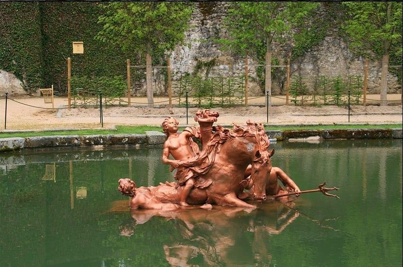 Fuente en la granja palacio real de Segovia