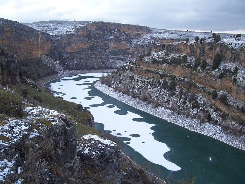 Hoces del río Duratón en invierno