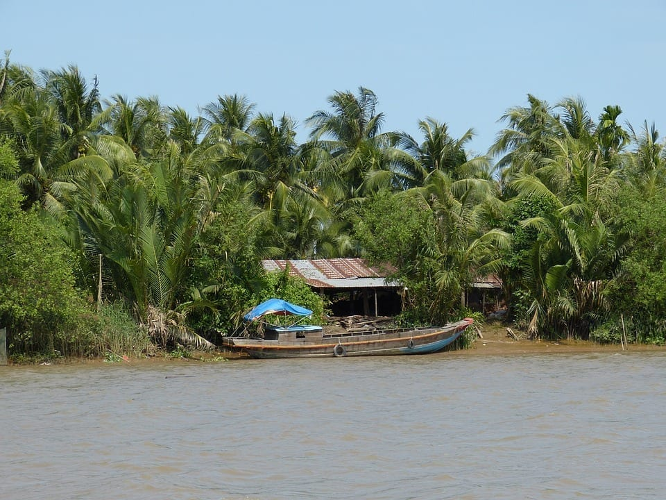 Embarcación en el Delta del Mekong