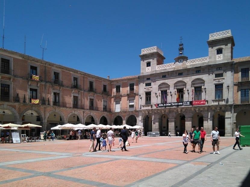 Plaza del mercado en ávila