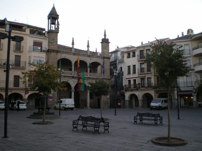 Plaza Mayor en Plasencia