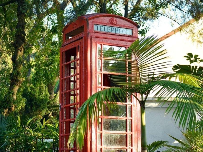 Cabina de teléfono inglesa en Gibraltar