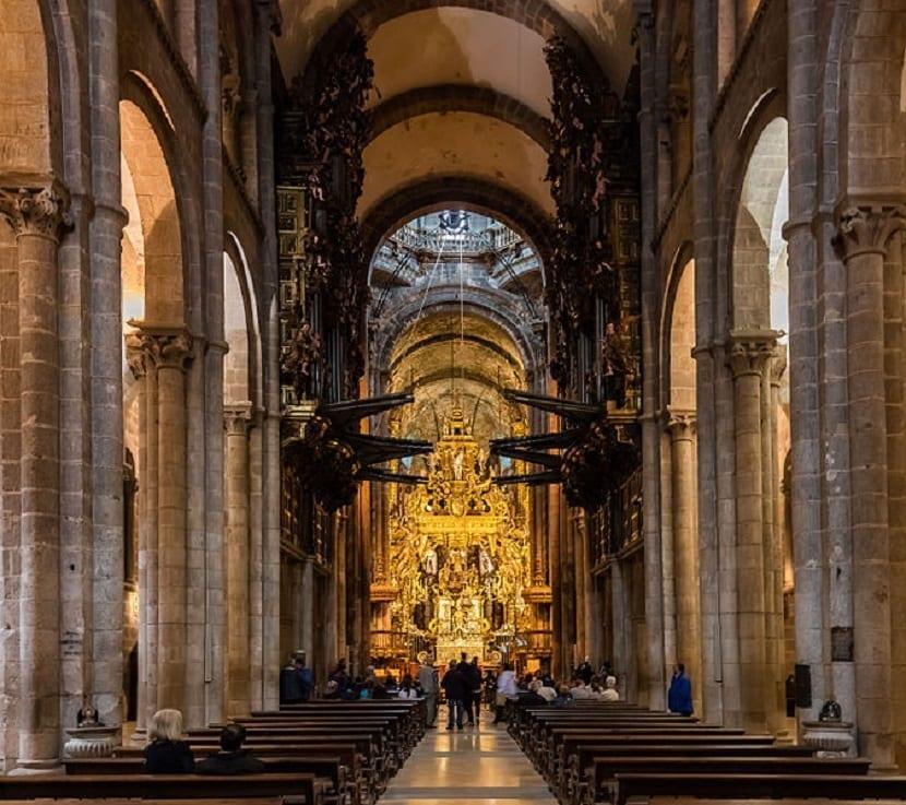 Interior Catedral de Compostela