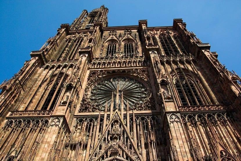 Fachada de la catedral de Estrasburgo