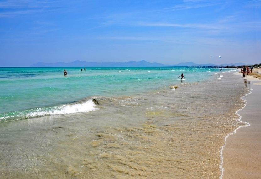 Vista de una playa de Mallorca
