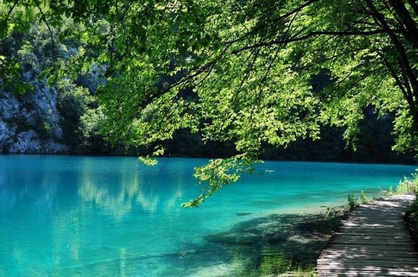 Uno de los lagos de Plitvice