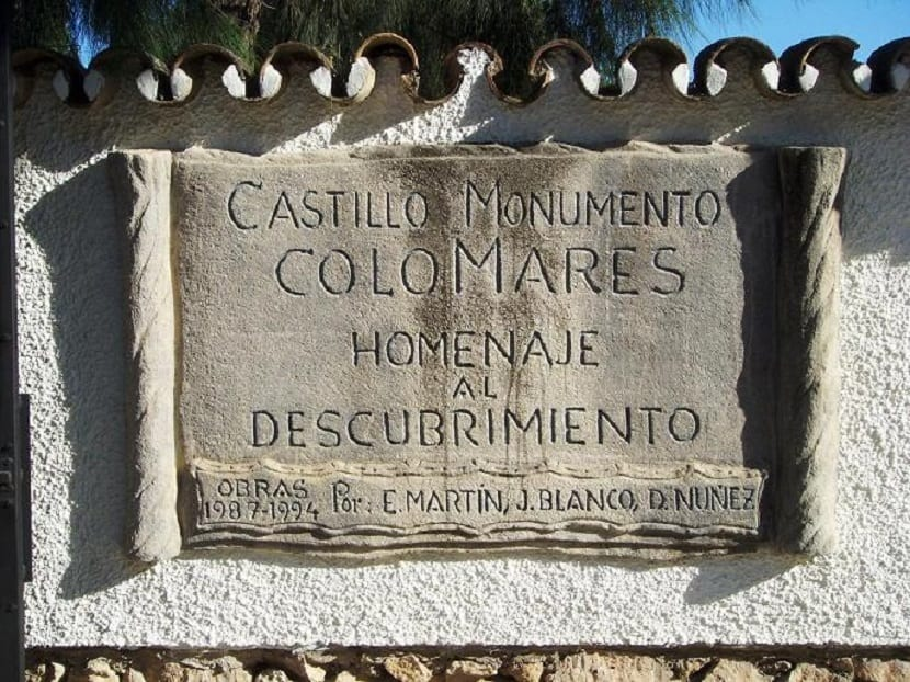 castillo homenaje descubrimiento