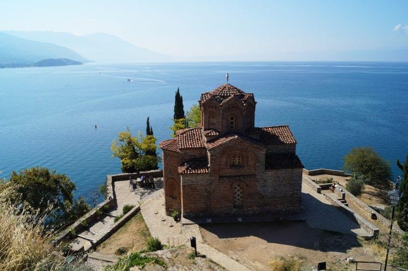 Castillo en Ohrid en Macedonia
