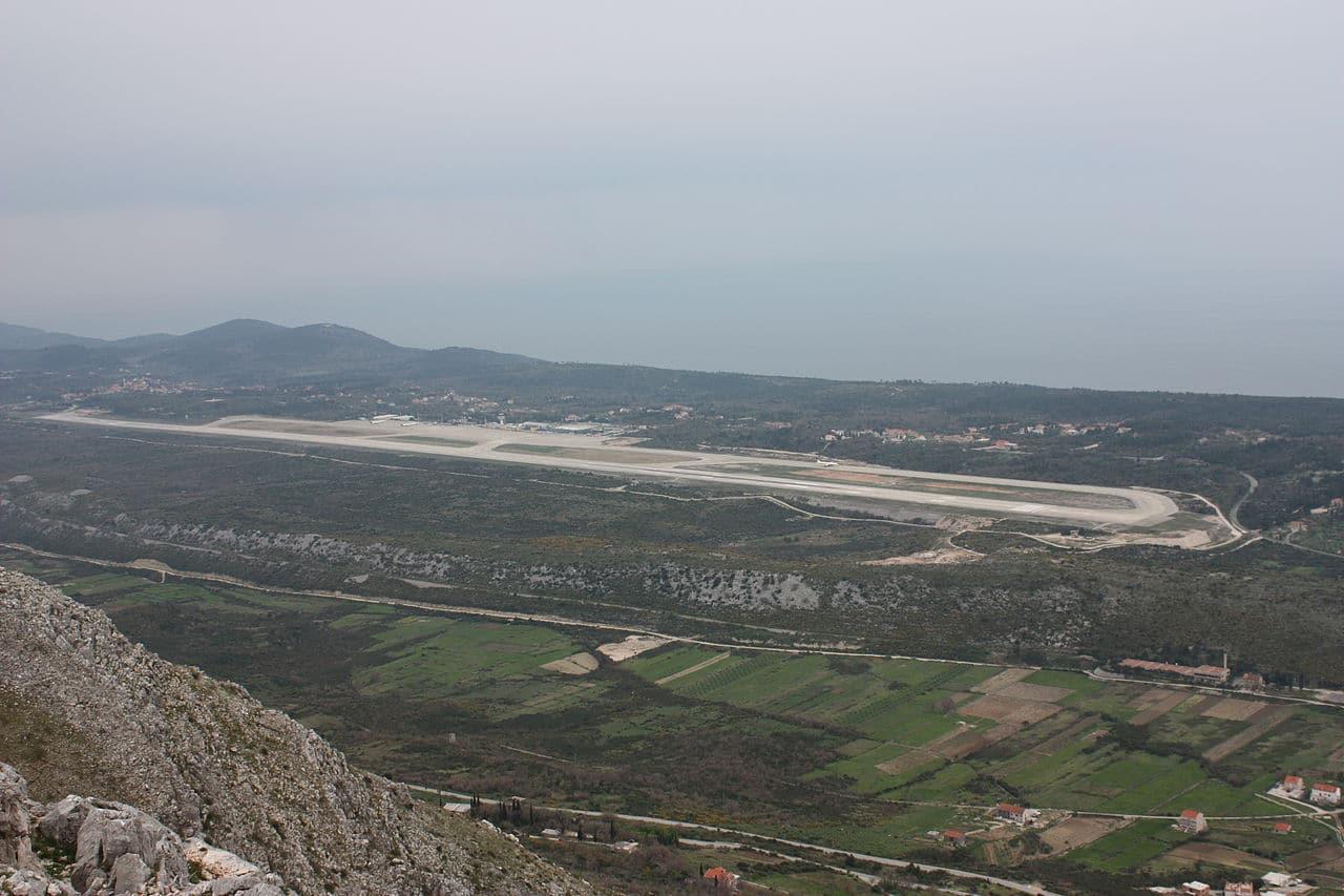 Vista del aeropuerto de Dubrovnik