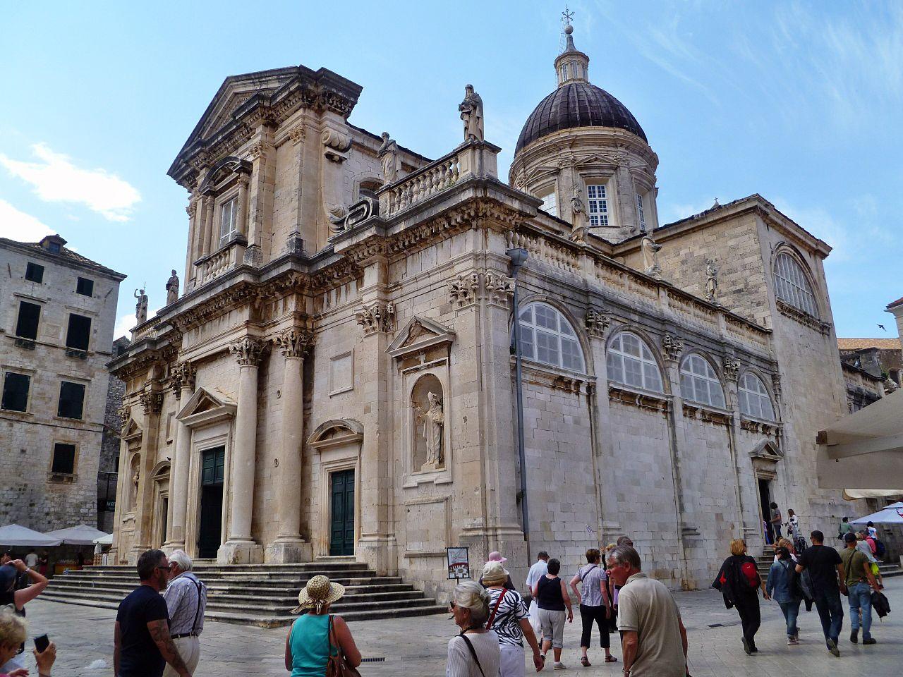 Vista de la catedral de Dubrovnik