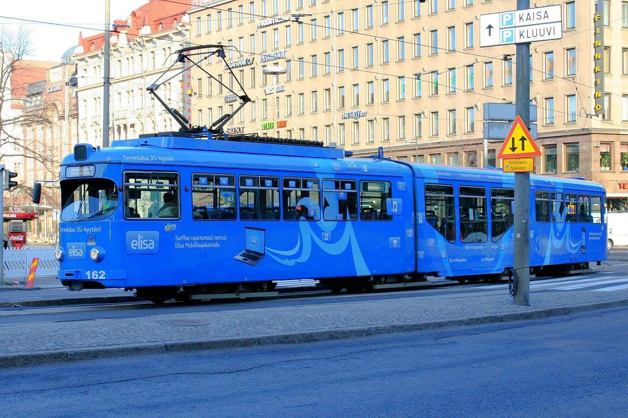 Un tranvía de Helsinki