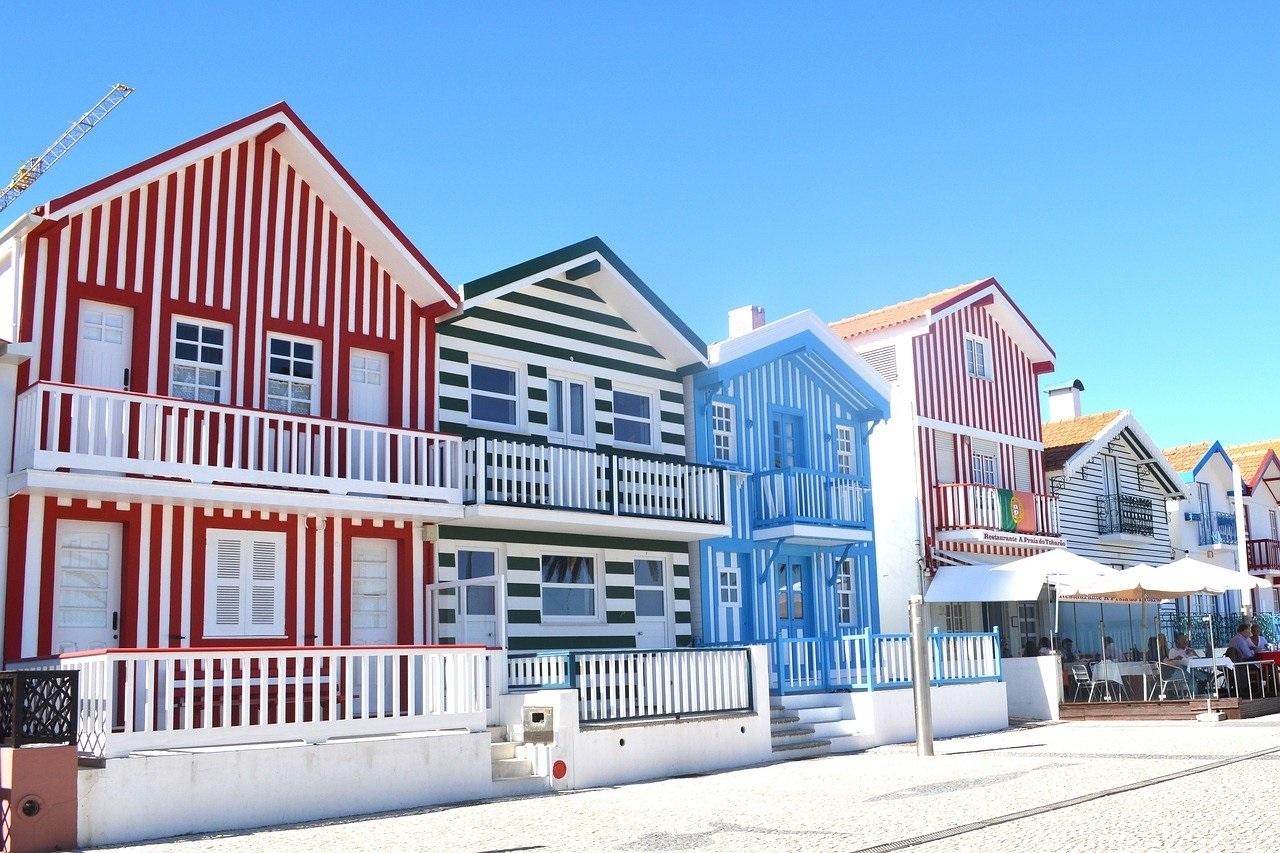 Las casas a rayas de Costa Nova