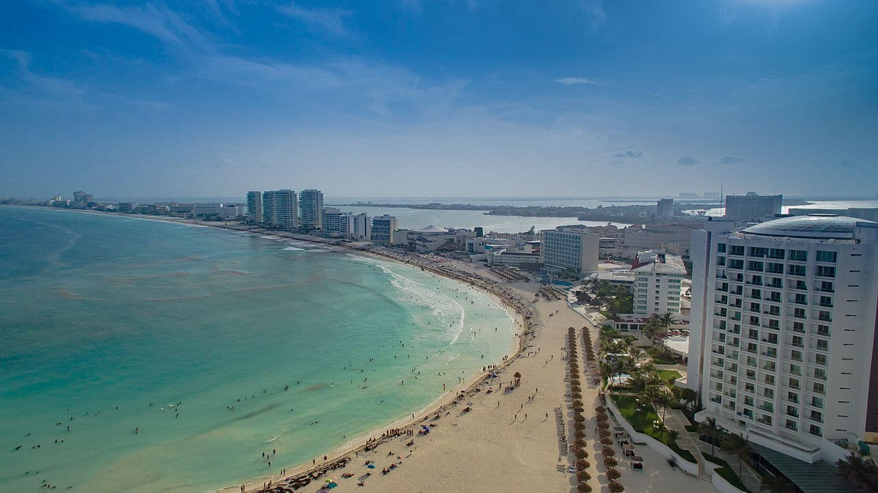 Vista de Cancún