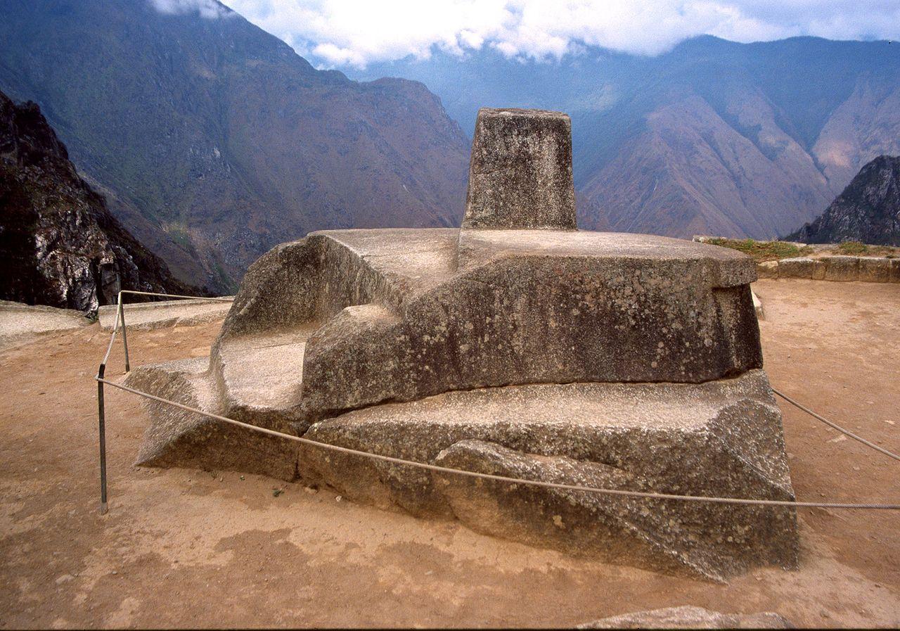 Vista de la piedra Intihuatana