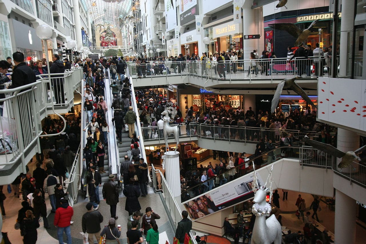 Boxing Day en un centro comercial