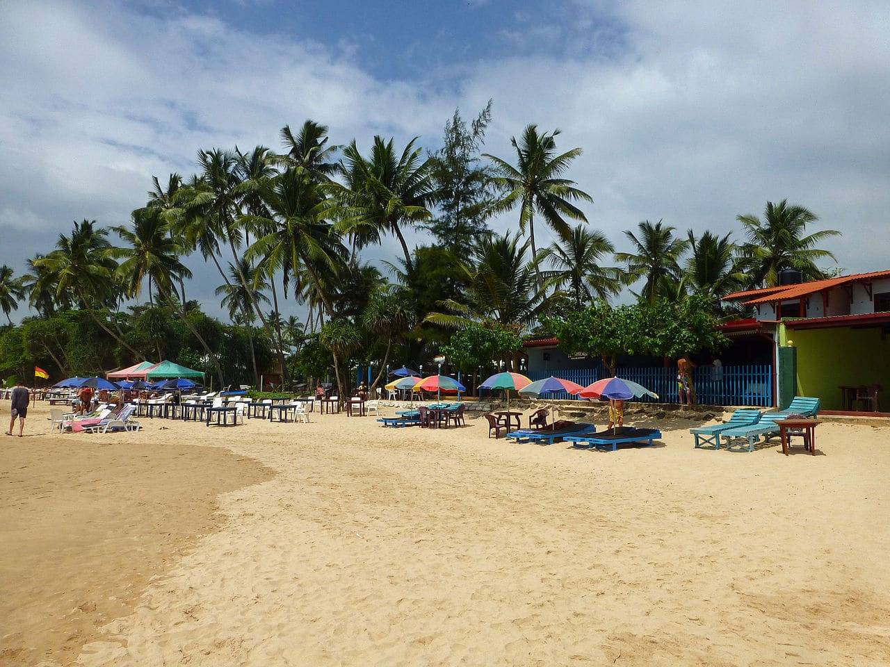 La playa de Mirissa