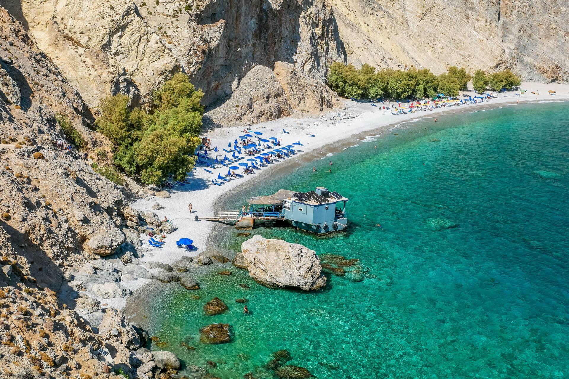 Playa nudista Grecia